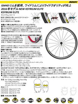 2015年 NEWモデル WTS ROAD WHEEL