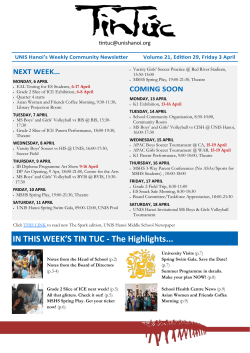 IN THIS WEEK`S TIN TUC - The Highlights