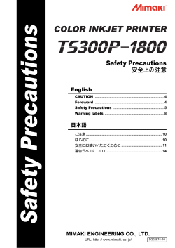 TS300P-1800 Safety Precautions - Mimaki