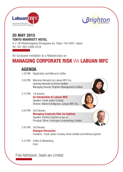MANAGING CORPORATE RISK VIA LABUAN IBFC