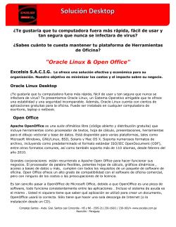 """Oracle Linux & Open Office"""