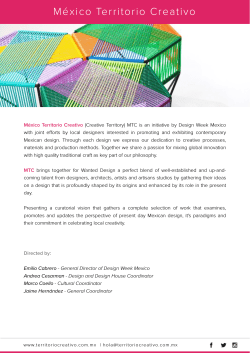 Press Release - Territorio Creativo