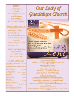 Ministry Fair Coming to Our Lady of Guadalupe Church