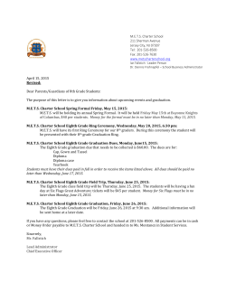 April 15, 2015 Revised: Dear Parents/Guardians of 8th Grade Students