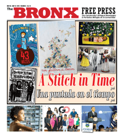 A Stitch in Time - The Bronx Free Press