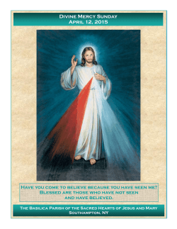 Divine Mercy Sunday April 12, 2015