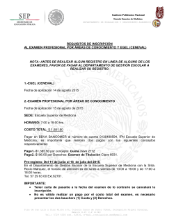 Requisitos - E.S.M. - Instituto Politécnico Nacional