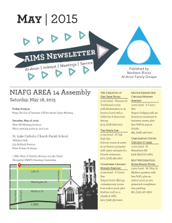 to and read or print the May 2015 AIMS newsletter (PDF