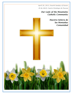 OLM Bulletin 2015-04-26 - Our Lady of the Mountains