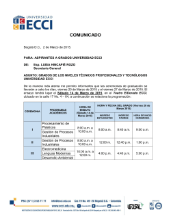 COMUNICADO - Universidad ECCI