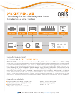 ORIS CERTIFIED // WEB