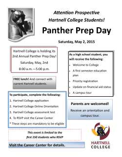 Panther Prep Day - Hartnell College