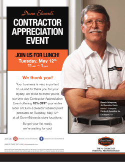 CONTRACTOR APPRECIATION EVENT JOIN US FOR LUNCH!