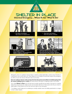 Shelter In-Place Flyer