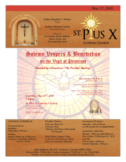 2015-05-17 - St. Pius X Catholic Church