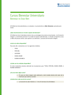 Cursos Bienestar Universitario - Campus Virtual