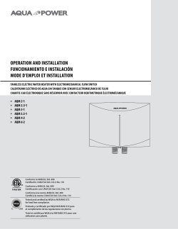 AQM Point-of-Use Tankless Electric Water Heaters Installation Manual