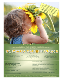 St. Mark`s Catholic Church Sea Girt NJ bulletin 6.14.15