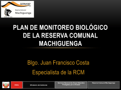 Plan de monitoreo biológico de la RC Machiguenga 2014