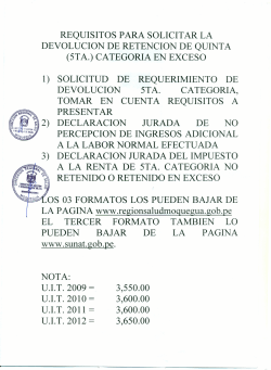 requisitos para solicitar la devolucion de retencion de quinta