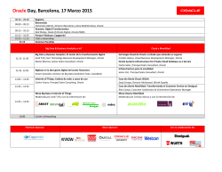 Oracle Day, Barcelona, 17 Marzo 2015