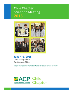 Chile Chapter Scientific Meeting