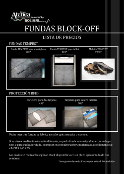 FUNDAS BLOCK-OFF - Atenea (Soliani)