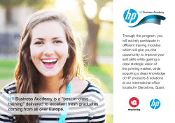 "HP Business Academy is a ""best-in-class training"" delivered"