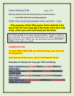 TOPIC FOR YOUR DISCUSSION VOICE ACTIVITY 9.06