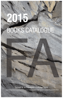 books catalogue - Facultad de Arquitectura