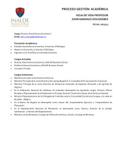 Curriculum Vitae - INALDE Business School