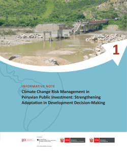 Climate Change risk management in Peruvian Public investments