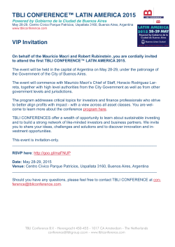 Invitation - TBLI CONFERENCE LATIN AMERICA 2015.pages