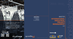 International industrial project management 2015-16