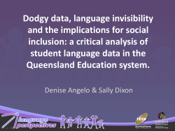 Dodgy data, language invisibility and the