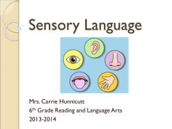 Sensory Language - Pearland Independent School