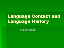 Language Contact and Language History