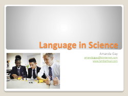 Language in Science