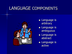 LANGUAGE COMPONENTS - Kirkwood Community College