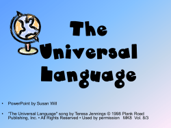 The Universal Language - Bulletin board system