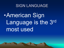 SIGN LANGUAGE - ASLPro.com Home