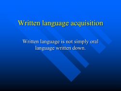 Written language acquisition