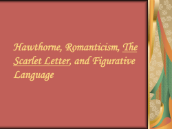 Hawthorne, The Scarlet Letter, and Figurative