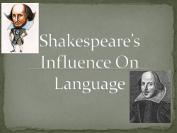 Shakespeare's Influence On Language