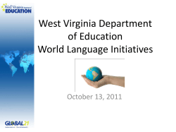 West Virginia Department of Education World
