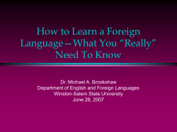 "How to Learn a Foreign Language—What You ""Really"""