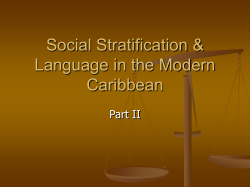 Caribbean Language Classifications