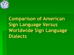 Comparison of ASL and Other Sign Languages of