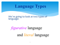 Figurative vs. Literal Language