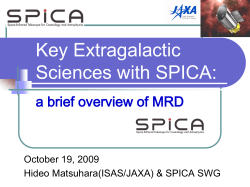 Key Extragalactic Sciences with SPICA: a brief